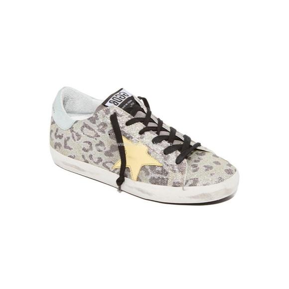 Golden Goose Glitter Leopard Lowtops